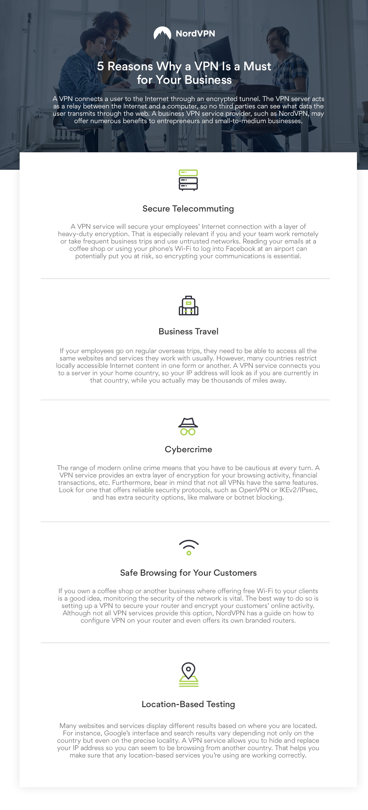 NordVPN infographic - 5 Reasons a VPN is a Must