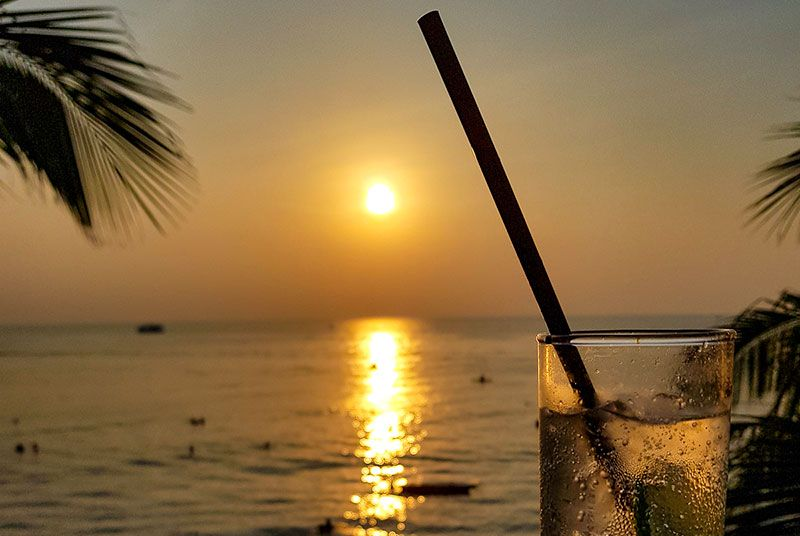 Sunset from the deck at Sunset Beach Bar, Phu Quoc