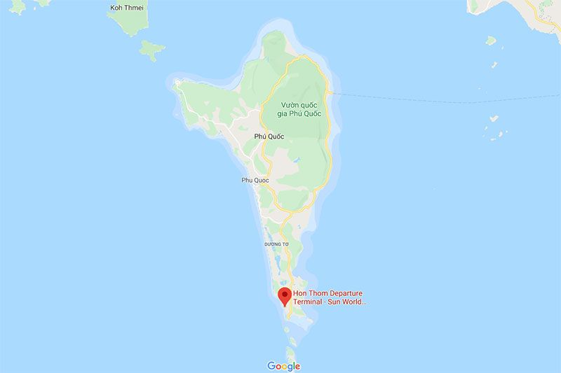Location of Hon Thom Departure Terminal from Google Maps