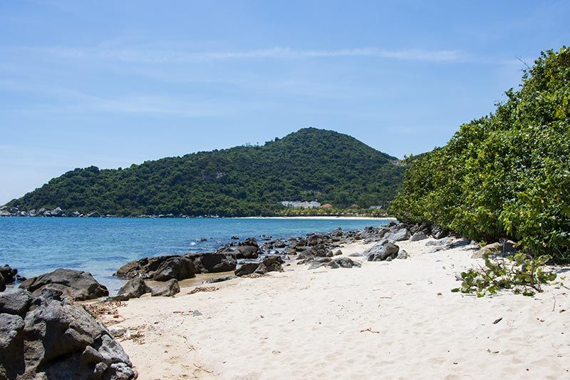 Looking towards Bac Beach from secluded secret beach