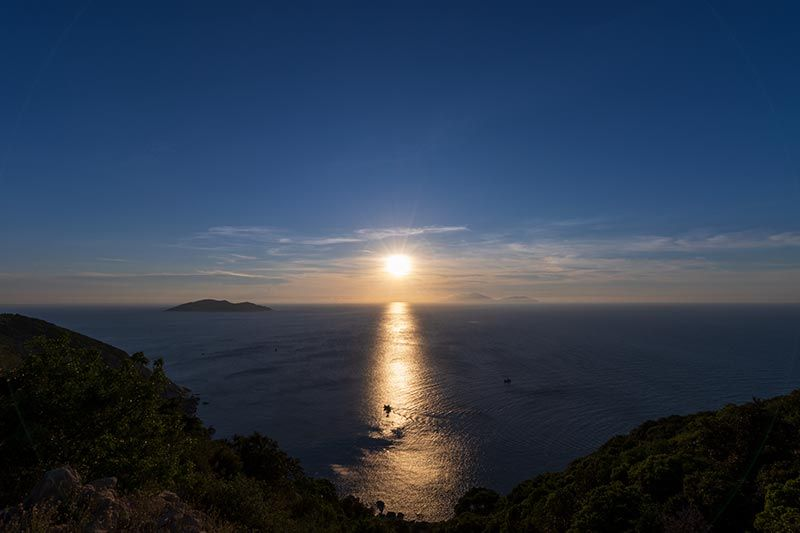 Sunset over Da Nang and the South China Sea from Cham Island