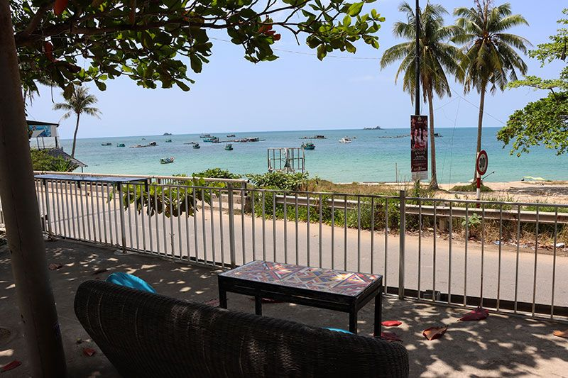 Deck with ocean view at DILA Restaurant Phu Quoc