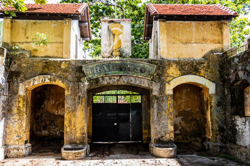 Entrance to one of Con Dao's old prisons