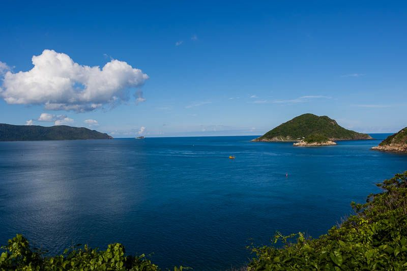Looking out over the Con Dao archipelago from Con Dao island