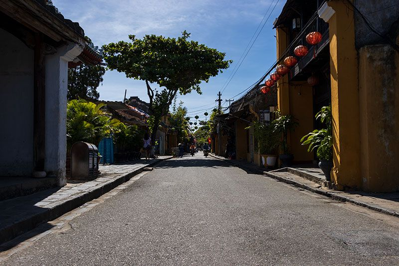 Rare empty streets of Hoi An Ancient Town during 2020 border closures